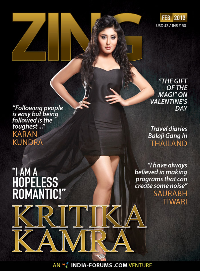 """I am a hopeless romantic!"" -  Kritika Kamra"